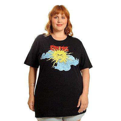 T-Shirt Plus Size Cosmic Preta
