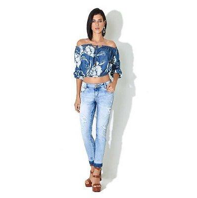 Calça Jeans Morena Rosa Cós Baixo Bordado Frente - Sua loja de moda ... f1734b9eb0a