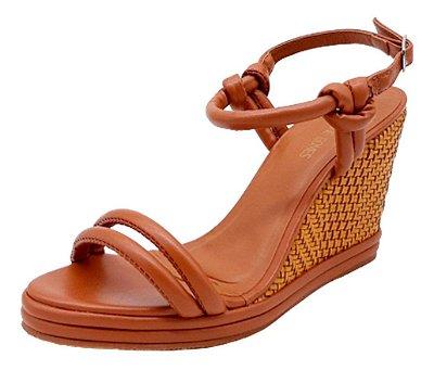 Sandália Feminina Anabela Confortável Plataforma Sapato