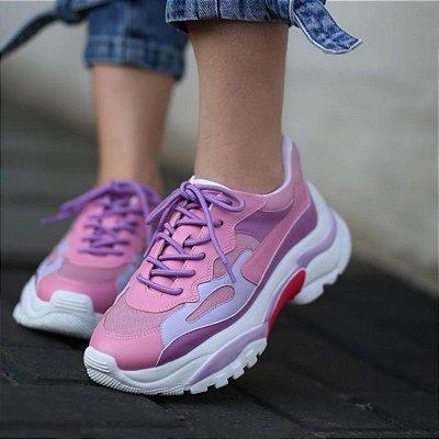 Tênis Feminino Chunky Sneaker Confortável Plataforma Moda