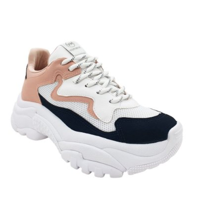 Tênis Feminino Sneaker Via Marte Sola Alta Amarrar Fashion