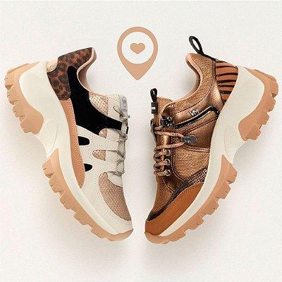 Tênis Feminino Via Marte Sneaker Original Chunky Sola Alta