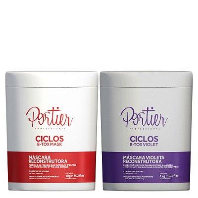 Kit B-tox Ciclos - Portier Ciclos B-tox Mask + Portier Ciclos B-tox Violet (2 produtos)