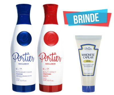 Portier Exclusive Kit - 1000ml (2 produtos) + BRINDE (Maionese Capilar)
