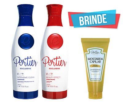 Portier Exclusive Kit - 1000ml (2 produtos) + BRINDE (Mostarda Capilar)