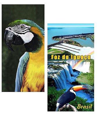 Duas Toalhas de Praia Kit Macaw-Falls