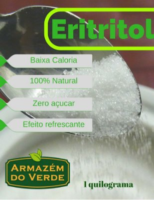 Eritritol Adoçante Natural Eritritol 500 gramas