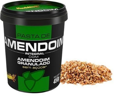 Pasta de amendoim integral granulada Mandubim 450g