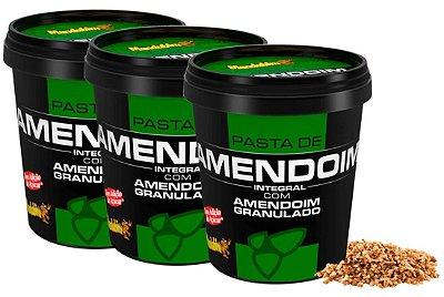 Kit 3 Pastas de amendoim integral granulada Mandubim 450g