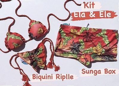 KIT Biquíni Ripple  & Sunga Box Cod: KEE97- Ler Descrição