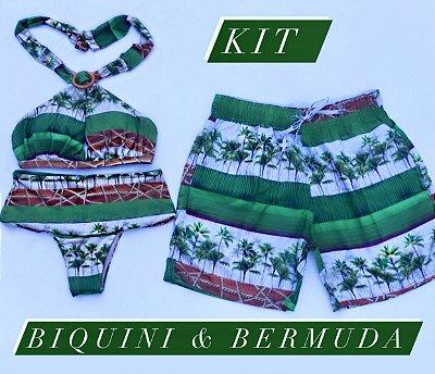 Kit Biquini Top x + Bermuda Masculina Mesma Estampa cod:BXB11 Ler a Descrição !