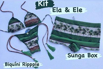 KIT Biquíni Ripple  & Sunga Box Cod: BKR06- Ler Descrição