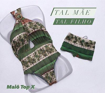 Kit Tal Mãe Tal Filho Maiô Top X  cod:KMTX16 Ler a Descrição !