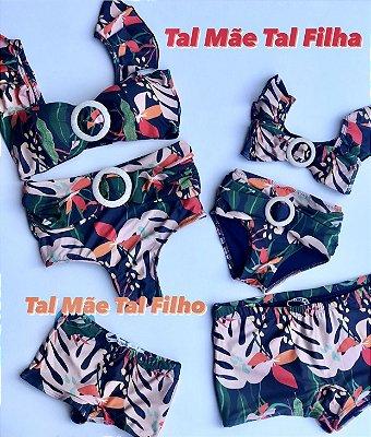 Monte seu Kit! Mãe Biquini & Filha Biquini Acessorio Hot Pants  & Pai e Filho Sungas Cod:FAHT027 Ler a Descriçao!