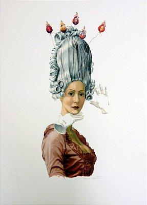 GRAVURA MARIA ANTONIETA RAINHA DA MODA