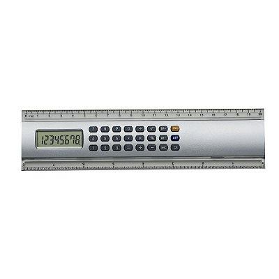 Régua plástica com calculadora de 20cm com 7 dígitos para seu logo. Código SK 146