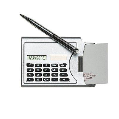 Calculadora plástica 8 digitos  com porta cartão de visitas .Código: SK3919