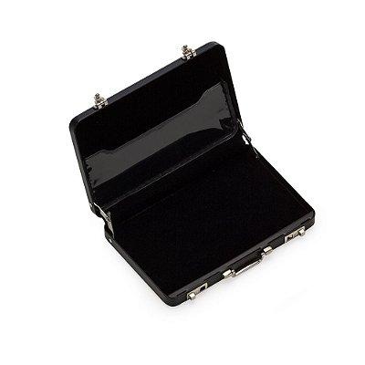 Porta cartão de alumínio formato mini maleta executiva. Código SK 13160