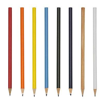 Lápis madeira(reflorestamento)  com grafite preto, guarnição prateada. Código SK 11426