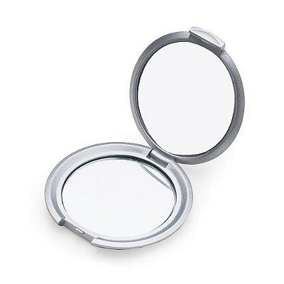 Espelho redondo duplo sem aumento, material em plástico resistente. Código SK 232