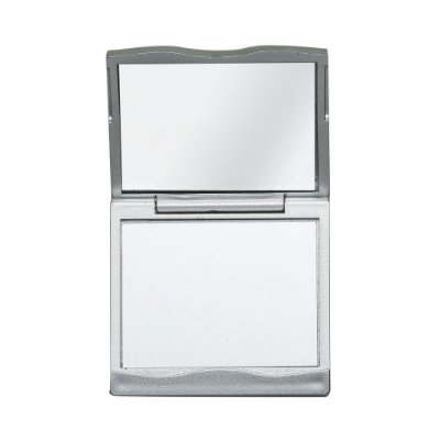Espelho plástico duplo com aumento. Frente e verso liso, Código SK 1764