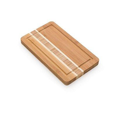 Tábua pequena de bambu para corte com canaleta. SK 13269