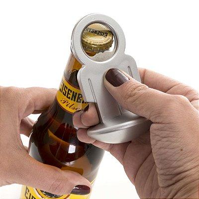 Abridor de garrafa formato homem, plástico resistente. Código SK 12211