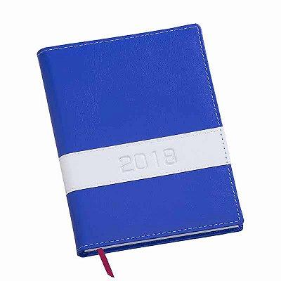 Agenda Diária Capa Horizontal Vermelha, Azul e Marrom. Cód. SK L363738