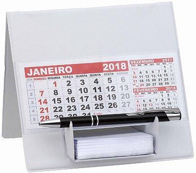 Calendário de Mesa com Suporte p/ Rascunho em PVC