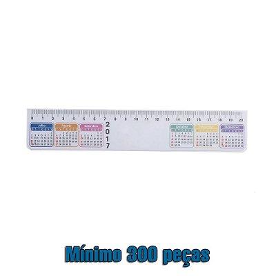 Régua plástica de 20cm com calendário. codigo. SK 13388