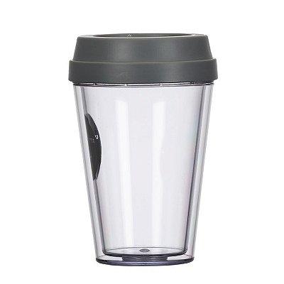 Copo de plástico com tampa. SKCO7000