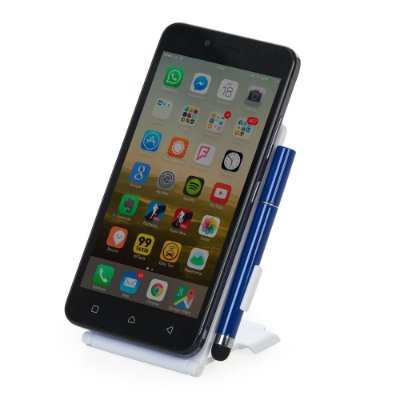 Base plástica para celular com caneta touch. Cód. SK12624