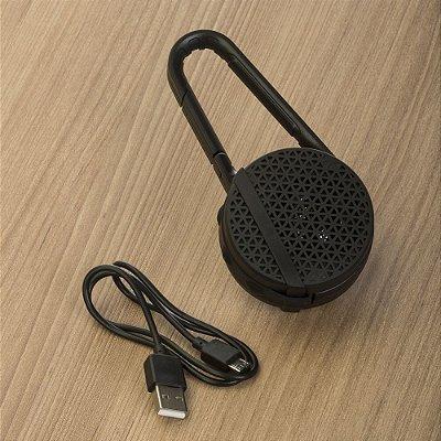 caixa de som com mosquetão. cod. SK 13231