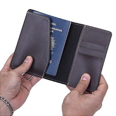 Porta passaporte Bidins em couro sintético. Cód. SK13123