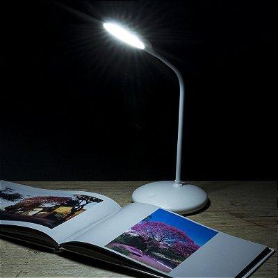Luminária de Mesa 12 Leds Flexível. Cod. SK 13374