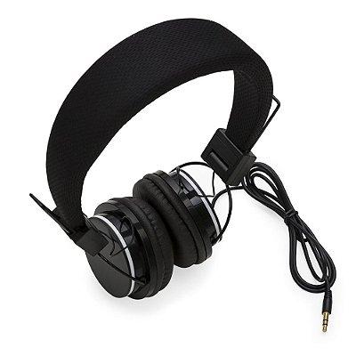 Headfone estéreo, material em plástico resistente. Cód. SK13186SM