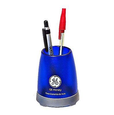 Porta Lápis Transparente/Colorido Plástico. Cód. SKL331