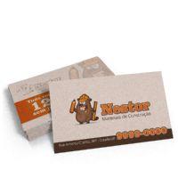 Cartão de Visita Reciclato 240g Sem Verniz 9x5 - 4x4 - 1000 UNID