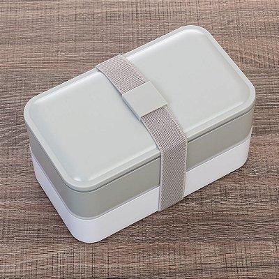 Marmita Plástica de 2 Compartilhamentos e Talheres. Cód. SK 13564