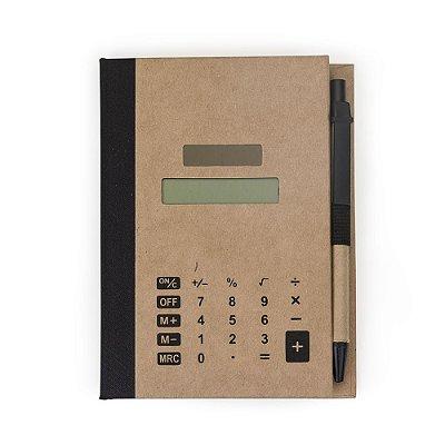 Bloco de Anotações com Post-it e Calculadora. Cód. SK 12737