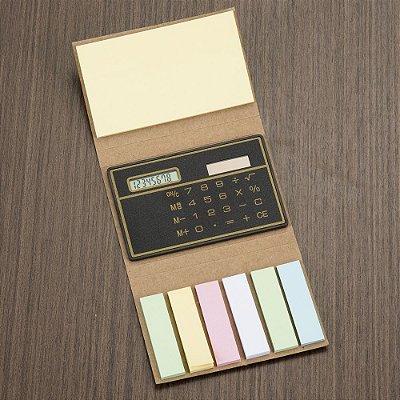 Bloco de anotações com calculadora. Cód. SK 1600