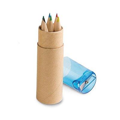 Caixa de cartão com 6 lápis de cor. Cód.SPCG91751