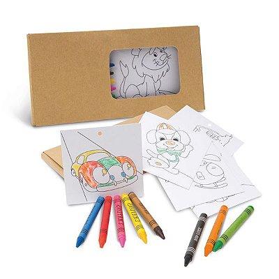 Kit para pintar em caixa de cartão. Cód.SPCG91755