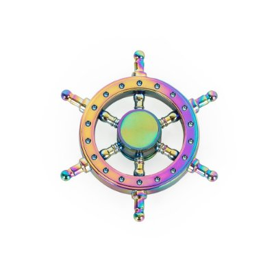 Spinner anti-stresse timão com pintura multicolorida. Cód.SK2057