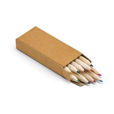 Caixa de cartão com 10 lápis de cor. 40 x 90 x 15 mm. Cód.SPCG91931