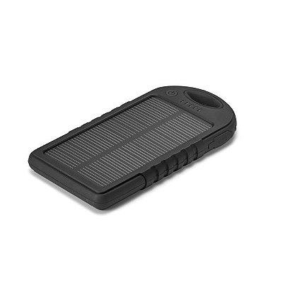 Bateria portátil solar. ABS.  Com painel solar e LED. Cód.SPCG97371