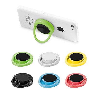 Suporte para celular. ABS. Com adesivo. ø40 x 10 mm Cód.SPCG37401