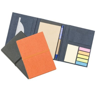 Bloco de anotações multiuso de papelão texturizado. SK13752