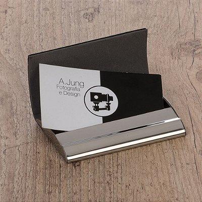 Porta Cartão de Couro. Cód. SK 8848B