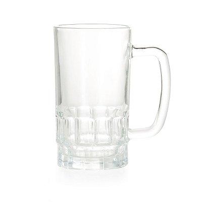 Caneca vidro transparente de 500ml. Cód.SK13284